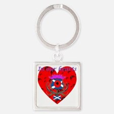 In our hearts military heros Square Keychain
