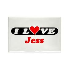 I Love Jess Rectangle Magnet (100 pack)