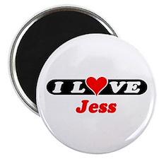 """I Love Jess 2.25"""" Magnet (100 pack)"""