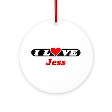 I Love Jess Ornament (Round)