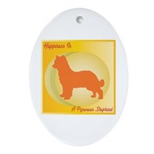 Pyrenean Happiness Oval Ornament