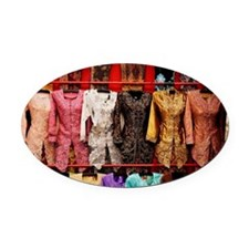 Traditional Malaysian attire for w Oval Car Magnet