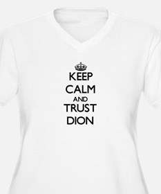 Keep Calm and TRUST Dion Plus Size T-Shirt