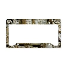 Stone sculpture of young love License Plate Holder