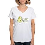 Scrappy Chicks Women's V-Neck T-Shirt