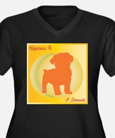 Schnoodle Happiness Women's Plus Size V-Neck Dark
