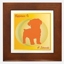 Schnoodle Happiness Framed Tile