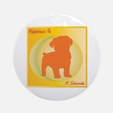 Schnoodle Happiness Ornament (Round)
