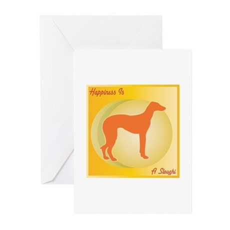 Sloughi Happiness Greeting Cards (Pk of 10)