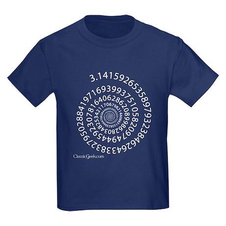 Spiral Pi Kids Dark T-Shirt