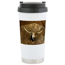 Head of longhorn steer  Travel Mug