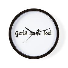 Girls Hunt Too Wall Clock