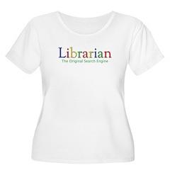 Librarian Women's Plus Size Scoop Neck T-Shirt