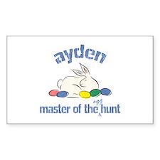 Easter Egg Hunt - Ayden Rectangle Decal