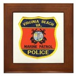 Virginia Beach Marine Patrol Framed Tile