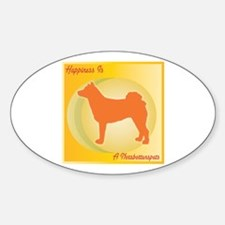 Norrbottenspets Happiness Oval Decal
