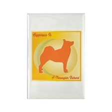 Buhund Happiness Rectangle Magnet