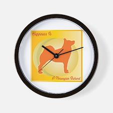 Buhund Happiness Wall Clock