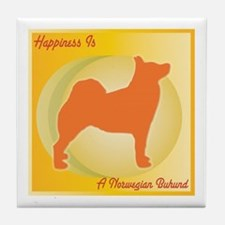 Buhund Happiness Tile Coaster
