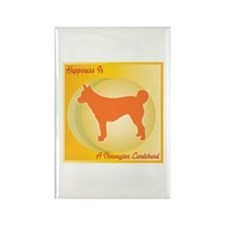 Lundehund Happiness Rectangle Magnet (100 pack)