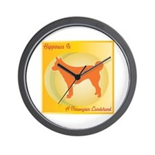Lundehund Happiness Wall Clock
