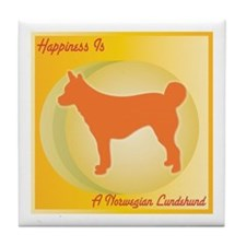 Lundehund Happiness Tile Coaster