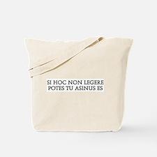 SI HOC NON LEGERE Tote Bag