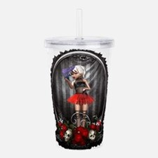 Goth Fashion Girl over Acrylic Double-wall Tumbler