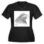 Muff Gamecock Women's Plus Size V-Neck Dark T-Shir