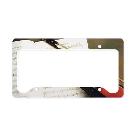 Violin and sheet music License Plate Holder