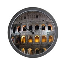 Most famous monument in Rome, Italy. Wall Clock