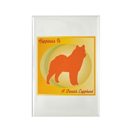 Lapphund Happiness Rectangle Magnet (10 pack)