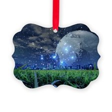 Cityscape and starry sky Ornament