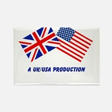 A UK/USA Production Rectangle Magnet (100 pack)