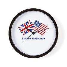 A UK/USA Production Wall Clock