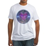 Psychedelic Heart Fitted T-Shirt