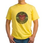 Psychedelic Heart Yellow T-Shirt