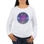 Psychedelic Heart Women's Long Sleeve T-Shirt