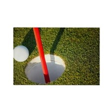 Ball close to the pin Rectangle Magnet
