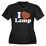 I Love Lamp Women's Plus Size V-Neck Dark T-Shirt