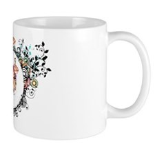 Oval frame with poppies flower Mug