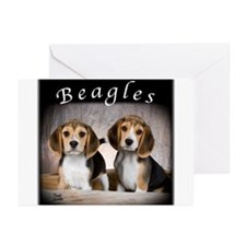 Beagle Puppies Greeting Cards (Pk of 10)
