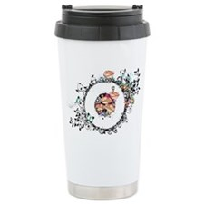 Oval frame with poppies Travel Mug