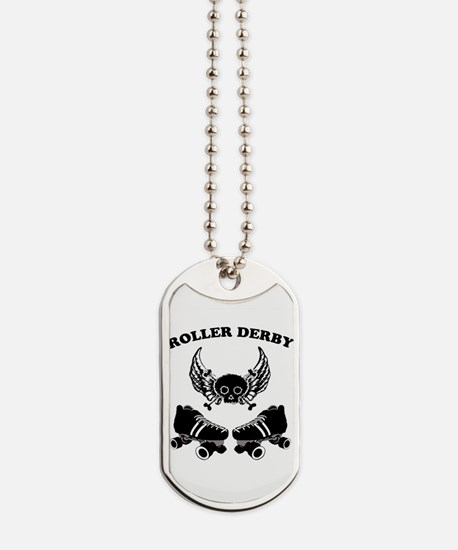 Roller Derby Wings Dog Tags