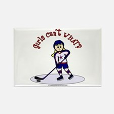 Blonde Hockey Girl Rectangle Magnet