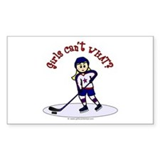 Blonde Hockey Girl Decal