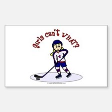 Blonde Hockey Girl Decal
