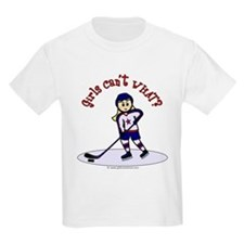 Blonde Hockey Girl T-Shirt