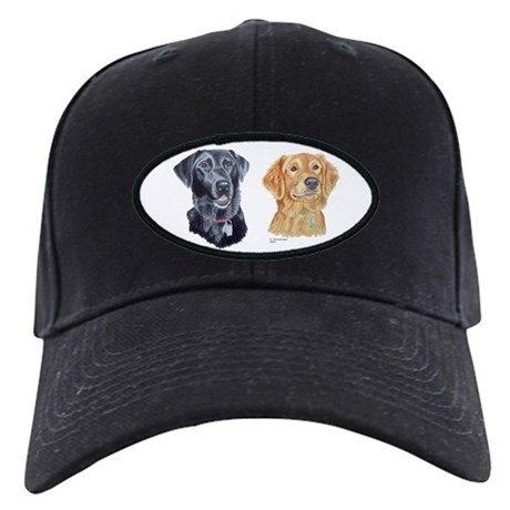 Lab and Golden Retriever Black Cap