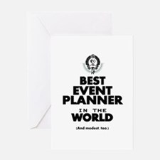 The Best in the World – Event Planner Greeting Car